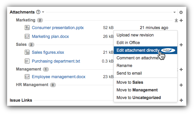 JIRA integrates Smart Attachments for GoEdit